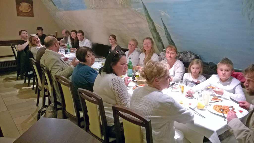 Ужин после поста в Йом Кипур