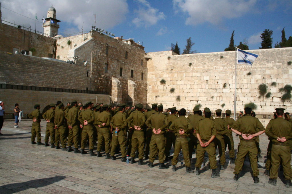 Солдаты у Стены Плача